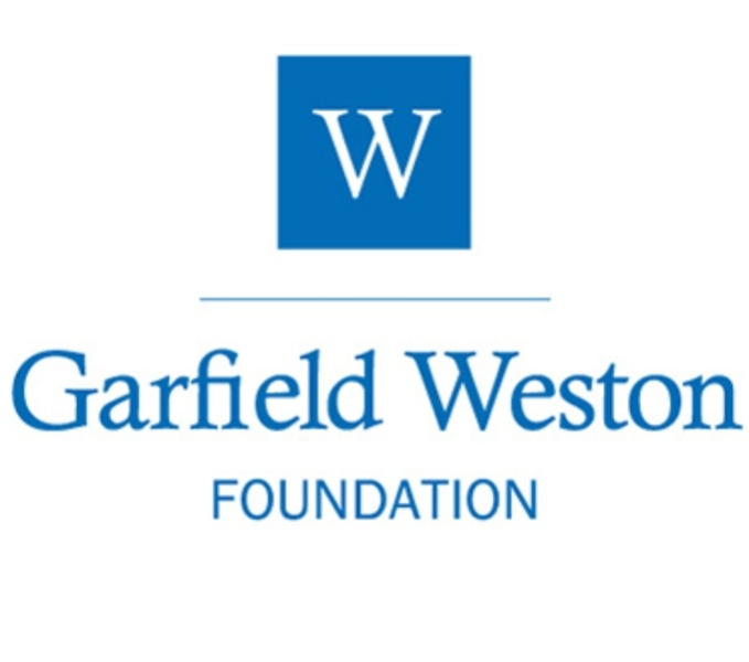 Garfield Weston logo. A bright blue square with the letter W within it is placed centrally above a thin blue line. Below in the same bright blue are the words Garfield Weston and below this is the word Foundation.