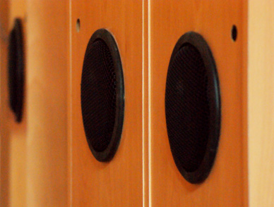 Sound Canvas by Zoe Partington - close up of speakers.