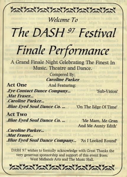 1997 Festival of Disability Arts final event programme