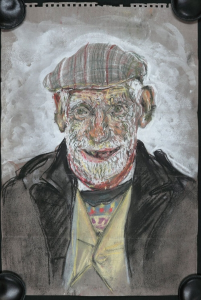 A portrait painting of Bill Lock, by an unknown artist.