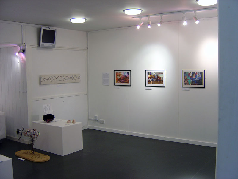 Artwork exhibited in the gallery was of mixed-media