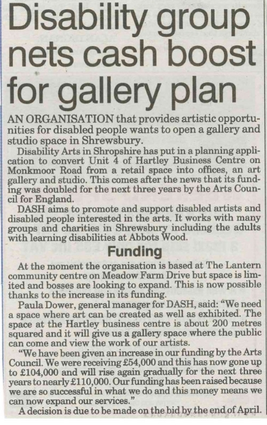 DASH submits plans for new gallery and office