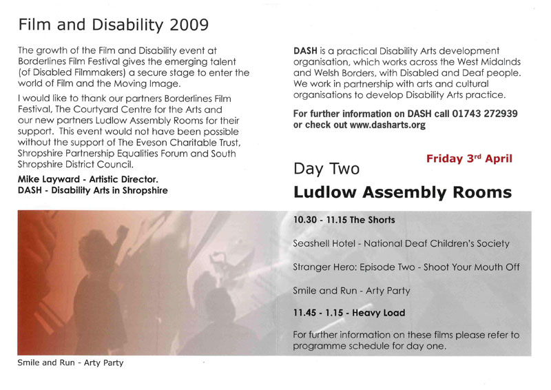 Film and disability arts festival with Borderlines