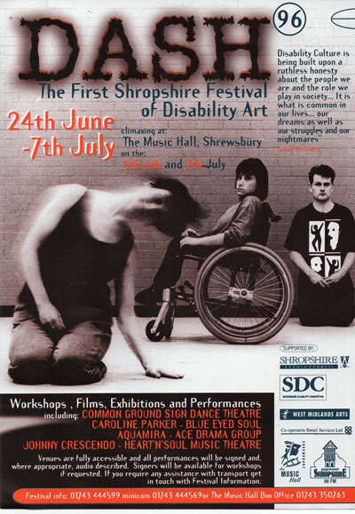 Disability Arts in Shropshire - Festival event in 1996