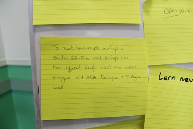 Participants of the workshop recorded their thoughts and ideas
