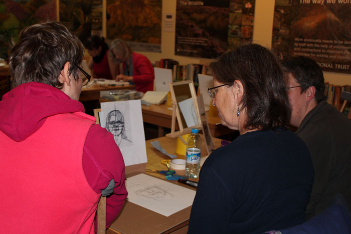 Artists learn techniques of portrait painting at workshop