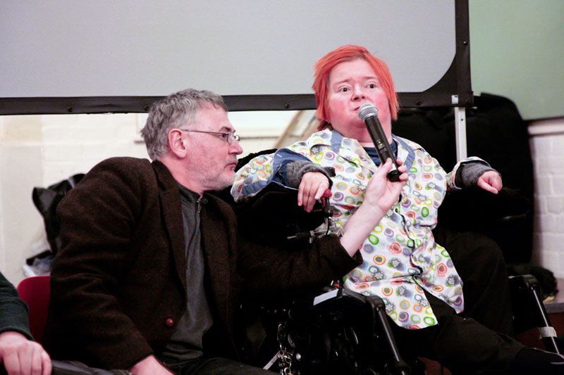 Disabled artists and performers at M21 in Much Wenlock