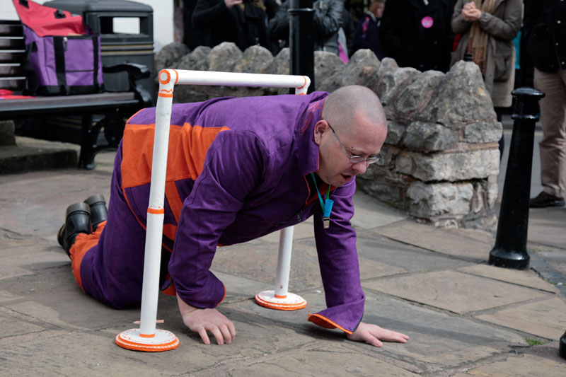 Performances in the streets of Much Wenlock