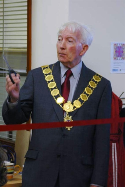 Mayor of Shrewsbury attended launch of Space in Shropshire