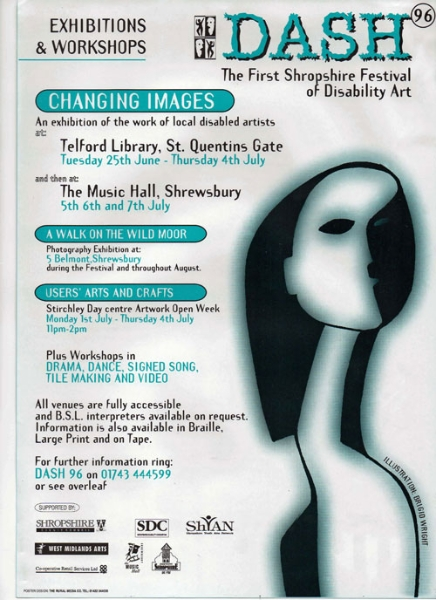 First Shropshire Disability Arts Festival - event flyer