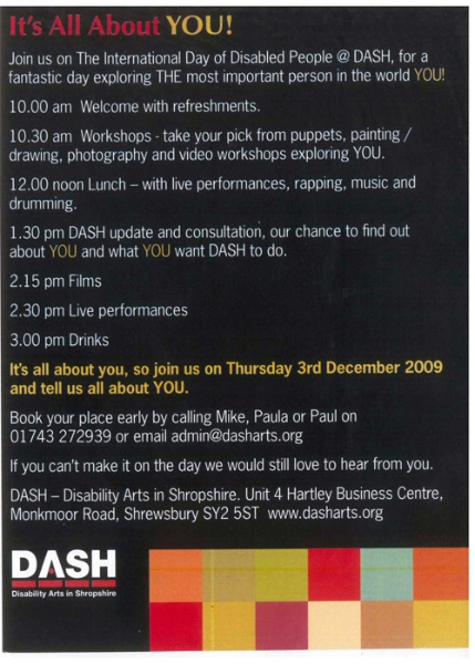 International Day of Disabled People with Dash in Shropshire