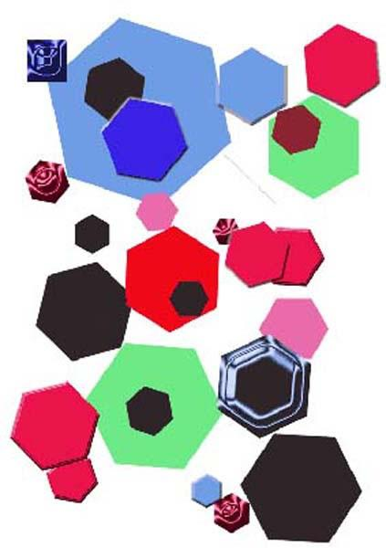 Overlapping hexagonal shapes