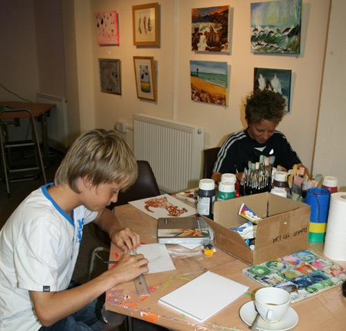 Young visitors to Open Studios