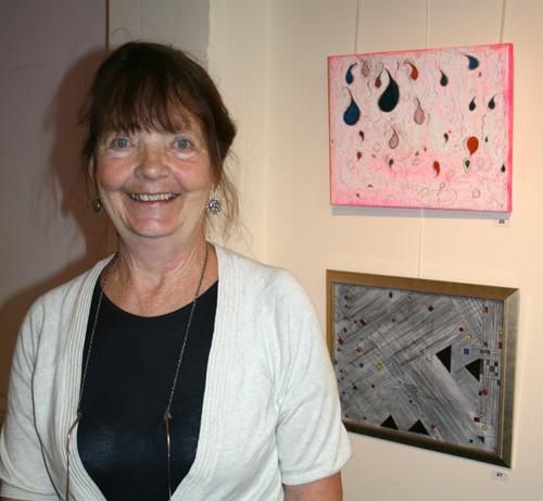 Jan Parry with her artwork