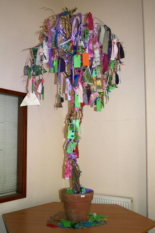 The DASH Wish Tree created by artist Andromeda Heightz